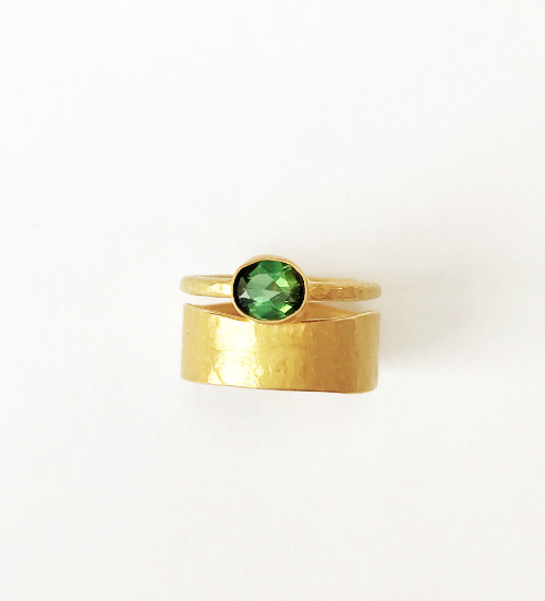 Sandel bague or, tourmaline